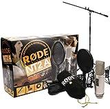 Rode NT2-A-Juego de micrófono condensador + Soporte para micrófono Keepdrum