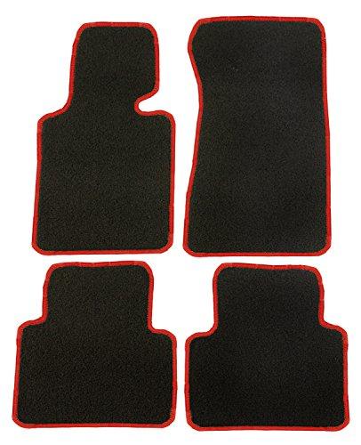 CatEx 32411550600Nr Classic Teppich zugeschnitten, schwarz/rot, Set von 4 (2004 Toyota Corolla Fußmatten)