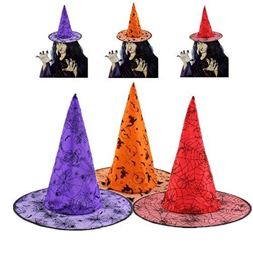 Bazaar Halloween Pointy Zauberin Witch Wizard Partei Kostüm Hut (Wizard Witch Kostüme Und)