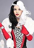 Cruella Deville-Style schwarz-weiß Bösewicht Perücke