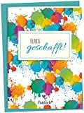 Hurra, geschafft!: Spruch-Heftchen mit Kuvert