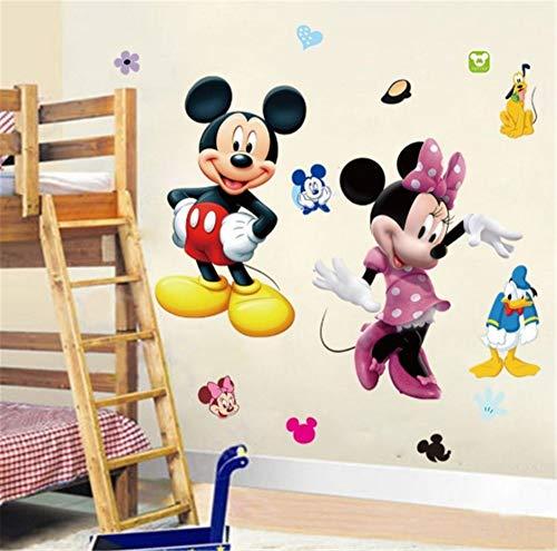 Mickey Mouse Minnie Vinyl Wandbild Wandaufkleber Tattoo Kinderzimmer Dekoration Kindergarten 70 * 50 cm