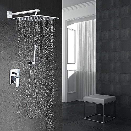 FuweiEncore Brausegarnitur Duscharmatur Mischwasserventil in die Wand Typ Unterputz Dusche mit Handheld (Farbe : -, Größe : -)