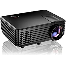 Proyector, Mini Proyector TENKER RD805, Portable Home Cinema HD LED Vídeo Proyector de Películas Soporte 1080P USB VGA HDMI AV, Compatible con TV Smartphones iPhone iPad, Negro