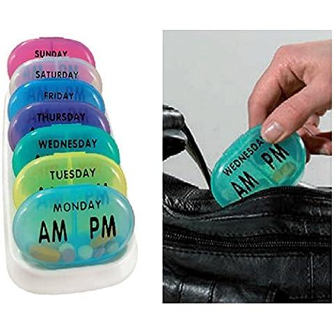 Handy tascabile Medicine Pill Organizer Tablet–settimanale X7giorno Scatole