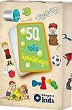 50 tolle Spielideen: Karten mit lustigen Spielen für drinnen und draußen (Karten für Kinder)