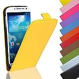 EximMobile - Flip Case Handytasche für Nokia Lumia 630 in Gelb | Kunstledertasche Nokia Lumia 630 Handyhülle | Schutzhülle aus Kunstleder | Cover Tasche | Etui Hülle in Kunstleder