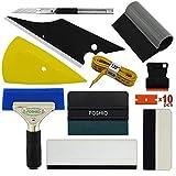 FOSHIO Pro Car Vinyl Wrapping Tools El kit de instalación de la arandela de la película auto incluye todo el tipo de Squeegees, magnética cinta métrica suave, raspador de la maquinilla de afeitar, cortador