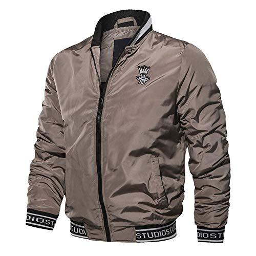 TWBB Herren Winter Mantel Outwear Werkzeuge Baseball Uniform Slim-Fit Biker Fliegendes Jacket Stehkragen Mantel Mit Reißverschluss