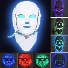 Minvo - Máscara facial de 7 colores LED para terapia facial y cuello, para el