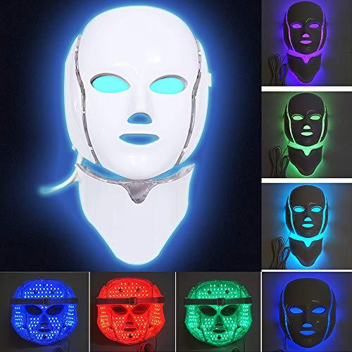 MinvoBeauty LED Máscara Facial 7 Colores Fotón Therapia