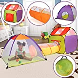 Tente de Jeu pour Enfant   avec Masion, Tunnel et Igloo, Pliant, Intérieur &...