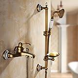 GuoEY Zxy-Ancient antike Badezimmer Dusche Badewanne Sprinkler Kombination Dragon Head Head Dusche Einfache Europäische kalte Dusche Dusche