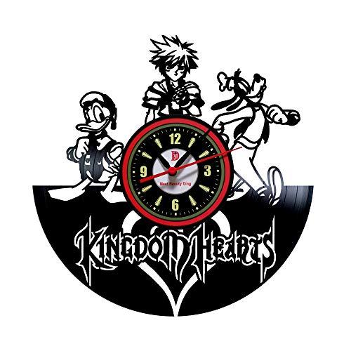 Kingdom Hearts Vinyl Record Wanduhr - Dekorieren Sie Ihr Zuhause mit Modern Large Disney Art - Geschenk für Weihnachten Mädchen und Jungen - Gewinnen Sie einen Preis für EIN Feedback