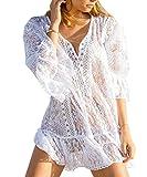 L-Peach Donna Tunica Copricostumi Parei per Costume da Bagno per Spiaggia Bikini Cover Up