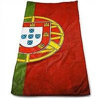 Toalla de Mano de Lujo JTRVW, Bandera de Portugal. Toalla de Playa de Microfibra
