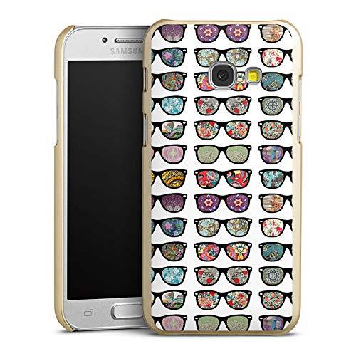 DeinDesign Hülle kompatibel mit Samsung Galaxy A3 2017 Handyhülle Case Glasses Brille Hipster