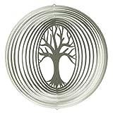 CIM Edelstahl Windspiel - Lebensbaum 200 - lichtreflektierend - Durchmesser: 20cm - inkl. Aufhängung