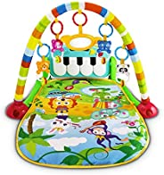 UNIH Baby Gym Rack Piano Fitness Playmat Newborn Educational Activity Play Gym Mat Toy