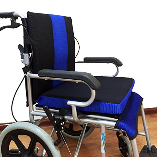 WAOBE Rollstuhl Kissen Anti-Decubitus Rückenkissen, Wabenkissen Atmungs Komfort Rollstuhl Zurück Oxford Tuch Material Kissen, (41 * 45 * 4 Cm)