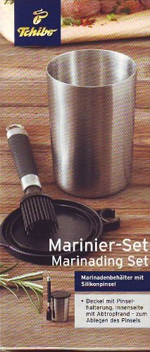 Marinier-Set / Marinading Set Marinadenbehälter mit Silikonpinsel