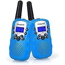 Funkprofi Walkie Talkies für Kinder, 388 Funkgeräte für Kids ab 3 Jahre PMR 446 Reichweite bis zu 3 km 8 Kanäle für Einkaufen, Freizeitpark, Zelten, Shopping, Indoor – gespräch 4 Stück