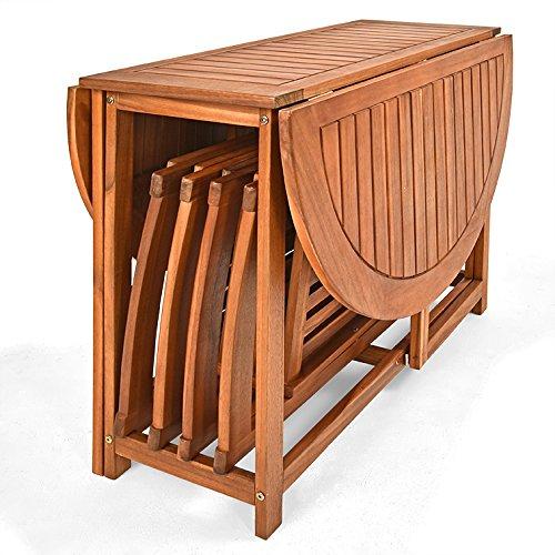 Deuba Balkonset Garnitur 4+1 aus Akazien