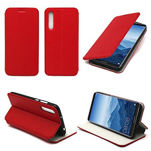 Etui-luxe-Huawei-P20-PRO-rouge-Slim-Cuir-Style-avec-stand-smartphone-2018-Housse-coque-anti-choc-de-protection-Accessoires-pochette-XEPTIO-case