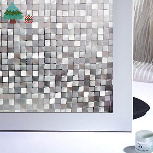 Royal Lifetree Stained Window Film Frosted Privacy Window Film Decorative Window Glass Film for Mall Glass Wall/Glass Door/Kitchen/Bath Room/Bedroom/Privacy ... & Kitchen Door Films: Amazon.co.uk