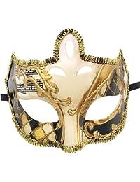 Flywife Hommes Mascarade Masque Rétro Drôle Musical Vénitien Fête Halloween  ... 9a7a152b56a