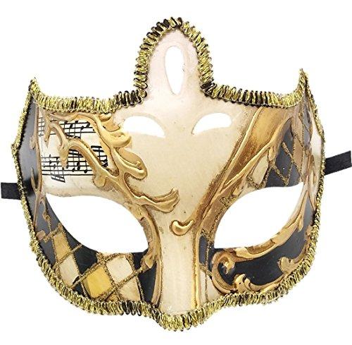Flywife Herren Maskerade Maske Retro Komisch Musical Venezianisch Party Halloween Karneval Mardi Gras Maske (Herren Mardi Gras Maske)