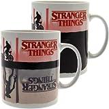 AMBROSIANA Stranger Things SCMG25280 Mug Thermo-reactif 315ml / 11oz (Upside Down) Tazza da Colazione, 315 milliliters, Ceram