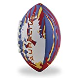 Aurelius Kinder Neopren American Football Weiches Wasser Rugby Ball für Strand Pool Backyard, rot