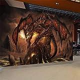 Liwenjun Papier Peint World of Warcraft Thème du Jeu Thème du Jeu du Dragon Fougueux 3D, 400 * 280Cm