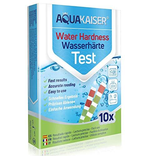 Wasserhärte Teststreifen - 10 Stück - einzeln versiegelt - Wasserhärte messen in Trinkwasser, Teich, Pool, Aquarium