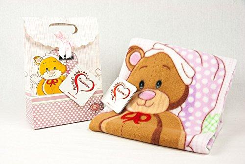 Daunex Plaid Morbidotto Teddy cm. 100x 75in passender Box ' Grigio 01