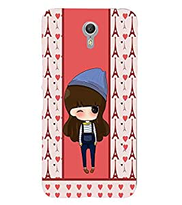 PrintVisa Cute Cartoon Art Print & Pattern Girl 3D Hard Polycarbonate Designer Back Case Cover for Lenovo Zuk Z1