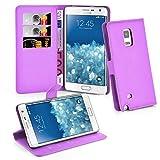 Cadorabo Hülle für Samsung Galaxy Note Edge in Mangan Violett