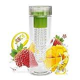 HMILYDYK Sport-Trinkflasche mit Fruit-Ei für außen Treal Sport, Camping, zu Hause, in der Schule green7