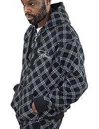 Redrum Kapuzenjacke Zipper Hoodie Hoody Jacke Baumwolle schwarz Modell Diago Zip