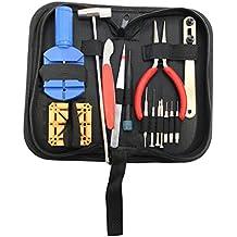 Kit di Riparazione per Orologio KurtzyTM da 14 pezzi con strumenti per rimozione cassa, completo di custodia - Polso Amanti Orologi