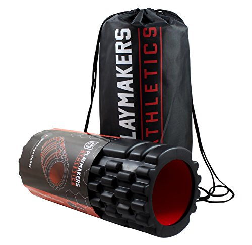 Playmakers Faszienrolle für Fitness und Training. Foam Roller zur Trigger Point Massage von Rücken, Beine, Po. Faszientraining mit Massagerolle. Pro Faszien Rolle für Sport. Trainings Yoga Roll