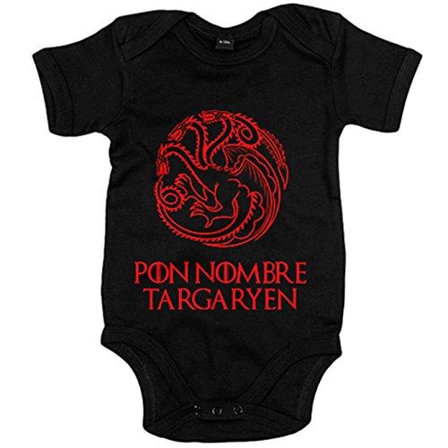 Body bebé Juego de Tronos personalizable Pon Tu Nombre ejemplo Juan T