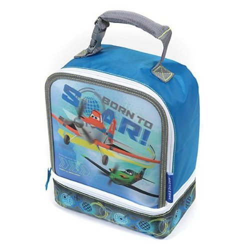 """Arctic Zone Disney Planes Dual Compartment Lunch Bag """"Born to Soar"""""""