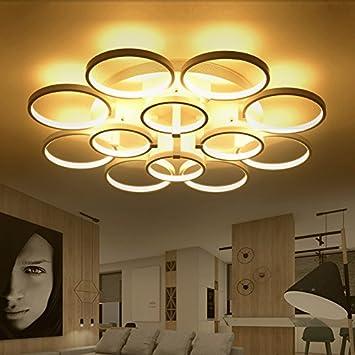 LFNRR Hochwertige Moderne Minimalistische LED Deckenleuchte Ring Um Das Wohnzimmer Beleuchtung Atmosphre Warm Und Kunst Schlafzimmer
