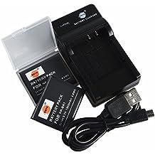 DSTE NP-BK1 Li-ion Batería (2 paquetes) Traje y cargador micro