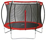Best Sporting Garten Trampolin Superstar Ø 305 cm, Outdoor Trampolin mit Sicherheitsnetz, rot