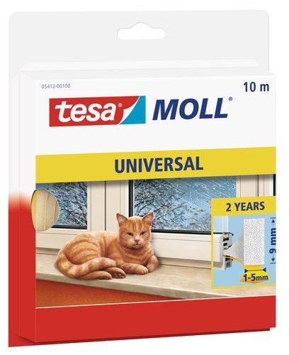 tesamoll Schaumstoffdichtung für Fenster und Türen, einfache Qualität, 10m x 9mm -