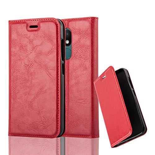 Cadorabo Hülle für WIKO WIM LITE - Hülle in Apfel ROT – Handyhülle mit Magnetverschluss, Standfunktion und Kartenfach - Case Cover Schutzhülle Etui Tasche Book Klapp Style