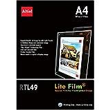 RTL49–10hojas x A4–Premium Iluminación papel/Lite de pantalla para luz LED bolsillo, Lightbox, luz paneles para todas las impresoras de inyección de tinta y algunos tóner copiadoras (grosor: 200micras)